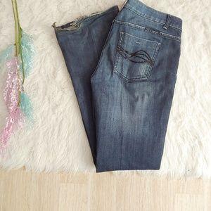 Cowgirl Tuff Jeans - Cowgirl Tuff Diva Glitter Patch Bootcut Jean 30x33